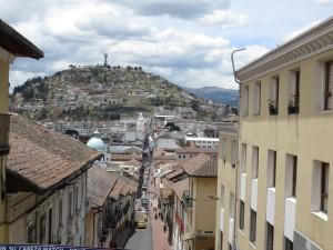 Weg zur Altstadt, Quito